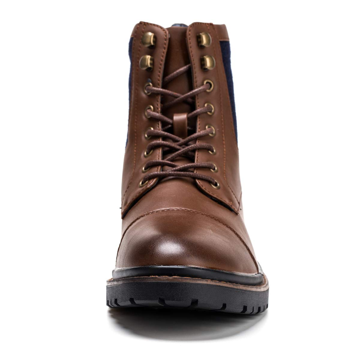Motorbike Boots Waterproof Genuine Leather Motorcycle Riding Boots Vantage Design Casual Shoes with ESA Protection for Men Coffee