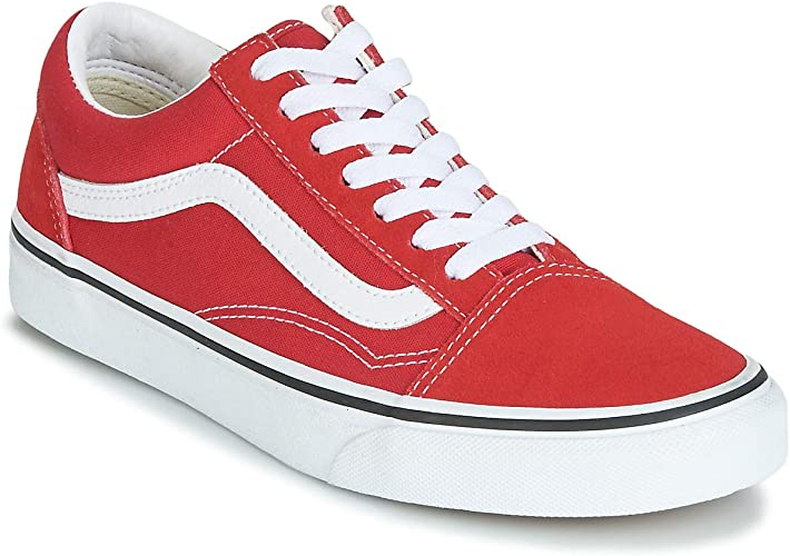 vans rouges femme