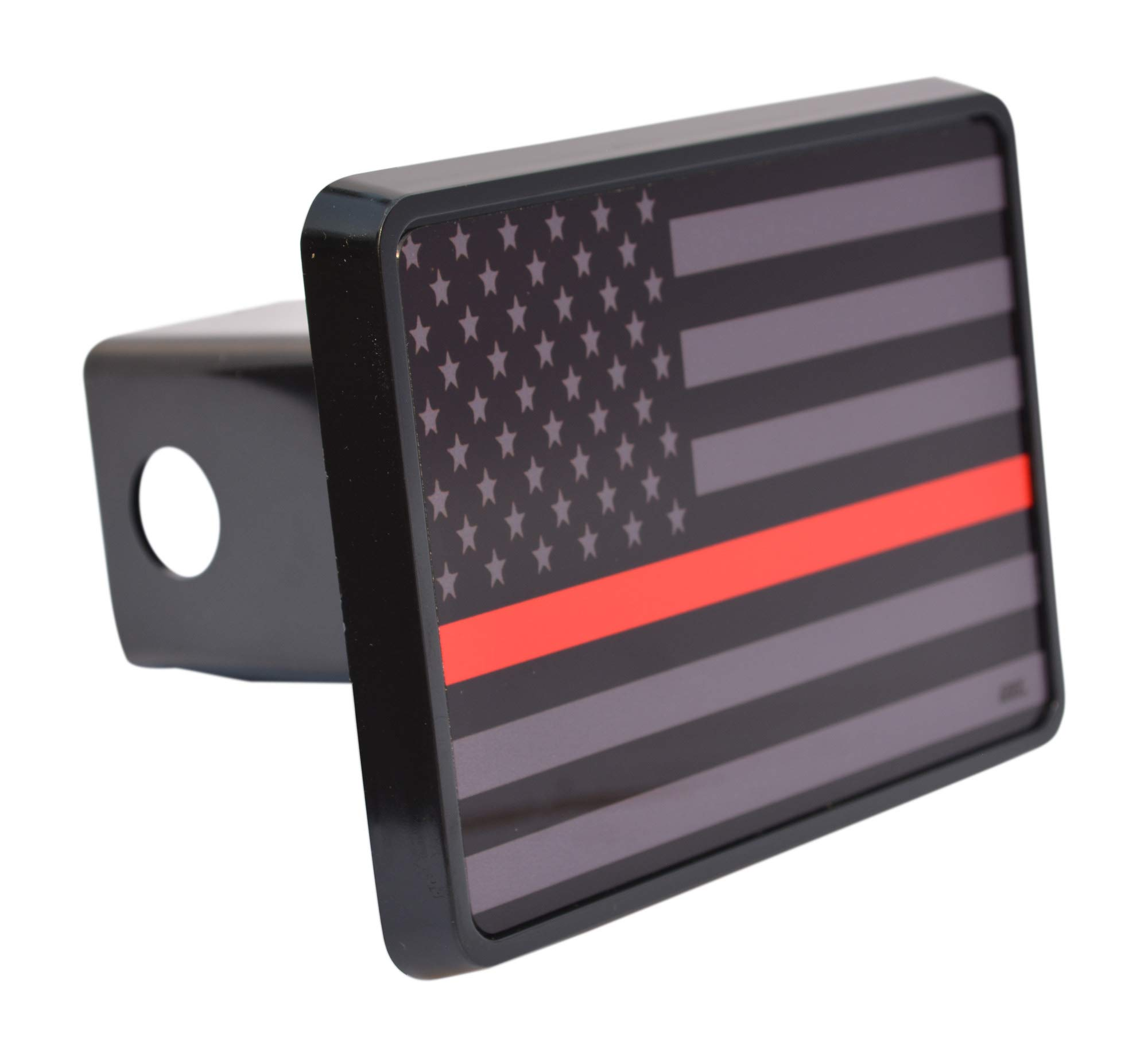 Rogue River Tactical Subdued Thin Red Line Flag Trailer Hitch Cover Plug US Firefighter Fire Fighter Truck Department FD by Rogue River Tactical
