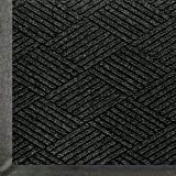 Andersen 2295 WaterHog Eco Premier PET Polyester Fiber Entrance Indoor/Outdoor Floor Mat, SBR Rubber Backing, 4' Length x 3' Width, 3/8'' Thick, Black Smoke by The Andersen Company