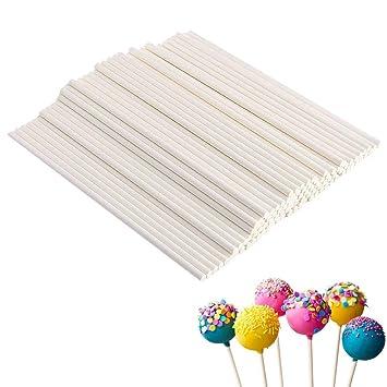 100 Stück Cake Pop Lutscher Lollipop Sticks Candy Schokolade Kuchen am Stiel