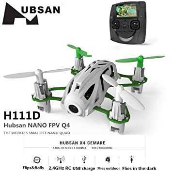 Hubsan H111D Nano Q4 Mini Quadcopter FPV con Cámara 480P(H111D ...