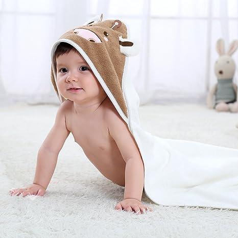 Toalla con capucha para niños & bebé, uso para baño, playa, piscina,