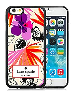 Personalized Design Customize iPhone 6 Protective Case Kate Spade New York Silicone TPU Case for iPhone 6 4.7 inch Cover 28 Black