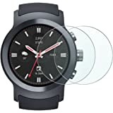 LG Watch Sport Screen Protector, Wimaha 2 Pack Tempered Glass Screen Portector for LG Watch Sport 2017 Scratch Resistant
