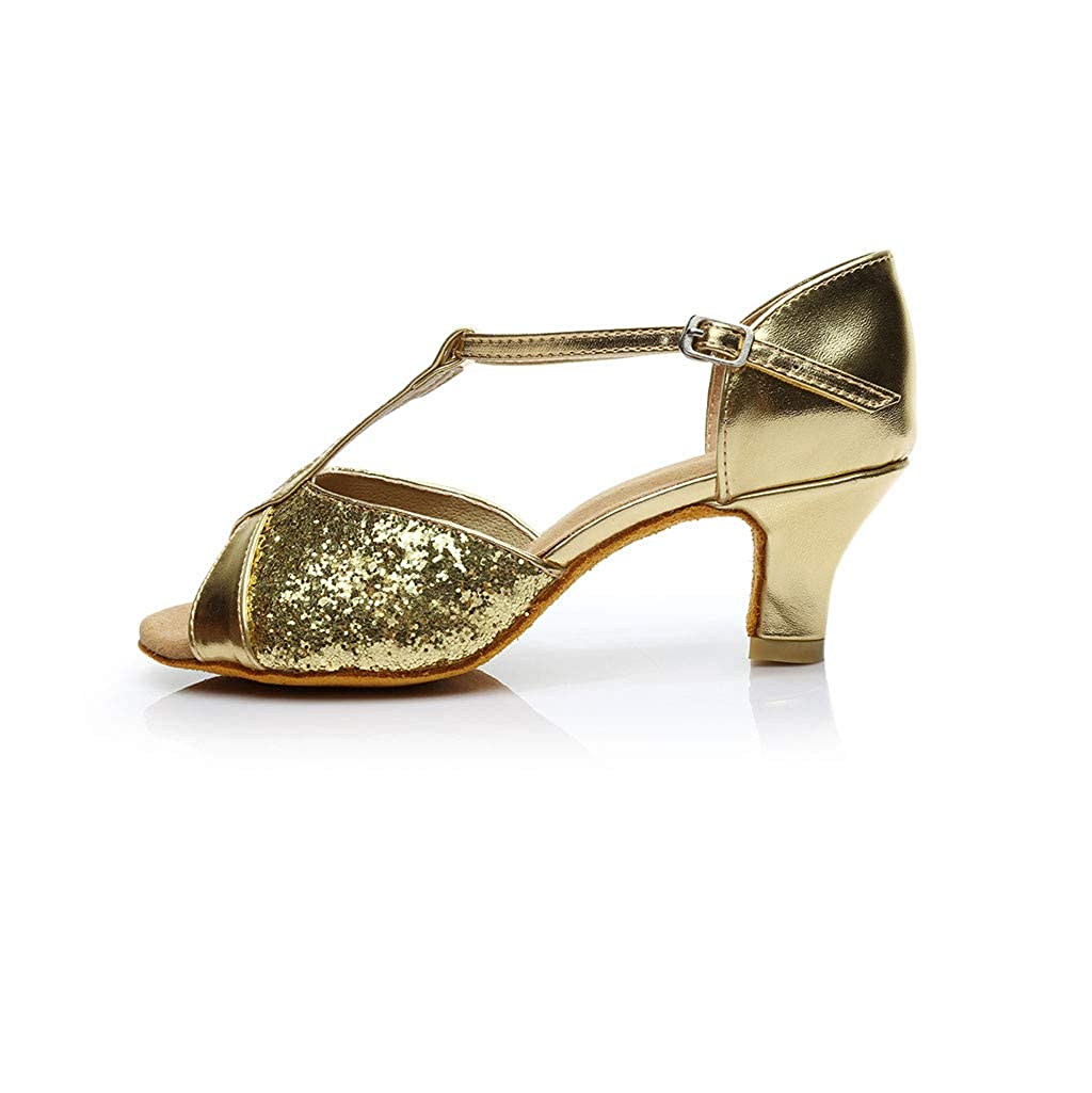 Gogoodgo Womens Dance Shoes Fashion Rumba Waltz Sandals Open Toe Buckle Sandals Daily Elegant Shoes