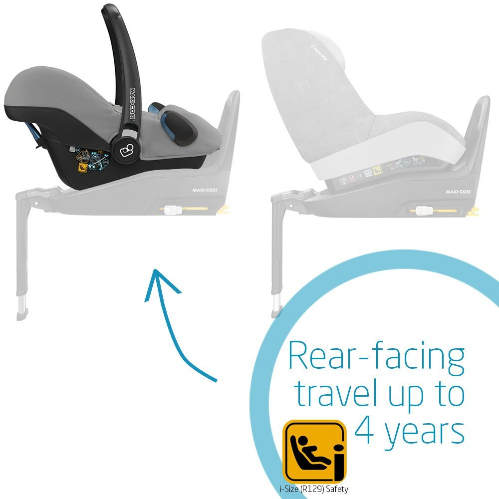 Sparkling Blue Isofix 0-12 Months Maxi-Cosi Rock Baby Car Seat Group 0+ Rearward-Facing 0-13 kg i-Size Car Seat