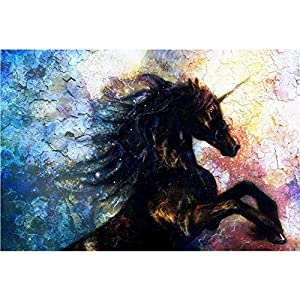 SWEETHOMEDECO 5D Diamond Painting, Diamond Painting Supplies, Unicorn Round Rhinestone Painting, Professional Level Big Canvas Full Drill for Adults and Children