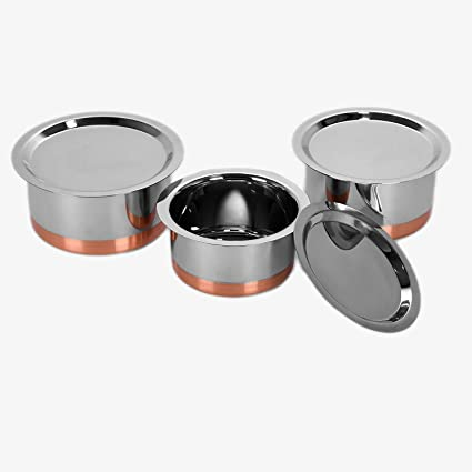 Buy Sumeet Stainless Steel Copper Bottom Cookware Container Tope