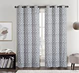 Cheap Amadora Gray Grommet Room Darkening Window Curtain Panels, Pair / Set of 2 Panels, 38×84 inches Each, by Royal Hotel