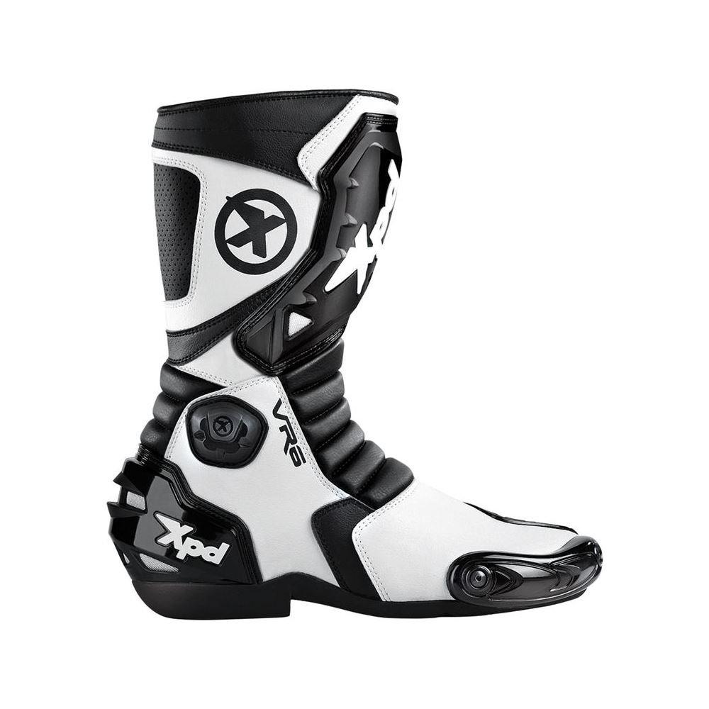 Spidi Sport S.R.L. VR6 Boots , Gender: Mens/Unisex, Size: 8.5, Distinct Name: White/Black, Primary Color: White S58-011-42