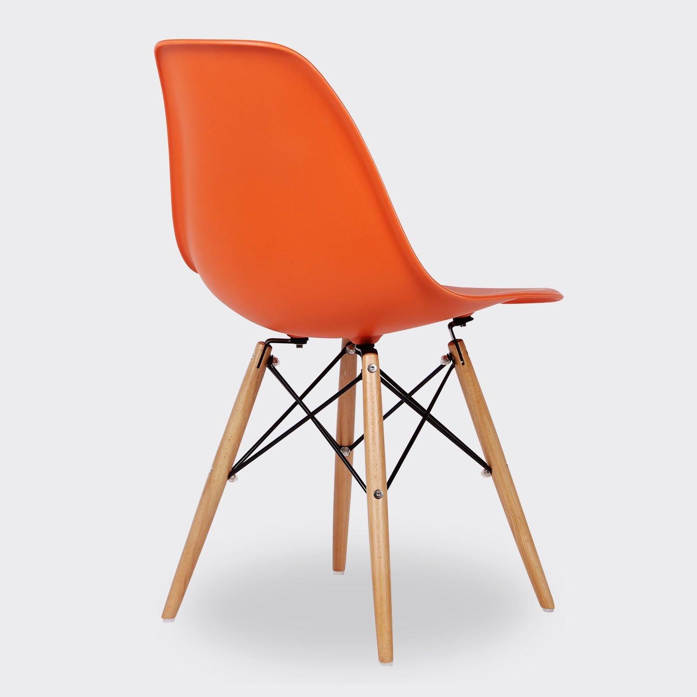 Lo + de Moda Wooden Color Edition Silla Confortable, Madera, Negro, 92x41.5x48 cm, 2 Unidades