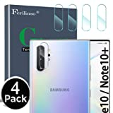 Ferilinso Camera Protector for Samsung Galaxy Note 10/Note 10 pro/Note 10 Plus, [4 Pack] Bubble Free Tempered Glass Protection Film with Lifetime Replacement Warranty (Clear) (Color: 4 pcs, Tamaño: Samsung Galaxy Note 10/Note 10 pro/Note 10 plus)