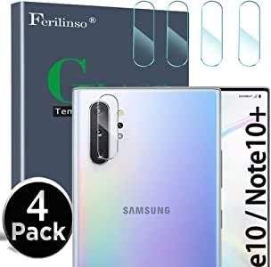 Ferilinso Camera Lens Protector for Samsung Galaxy Note 10/Note 10 pro/Note 10 plus, [4 Pack] Bubble Free Tempered Glass Protection Film (Clear)