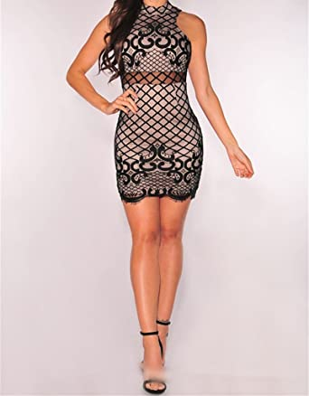 Vestidos Fino y Elegantes Para Fiesta Vestidos Elegantes de Fiestas Pegados Al Cuerpo VE0010 at Amazon Womens Clothing store: