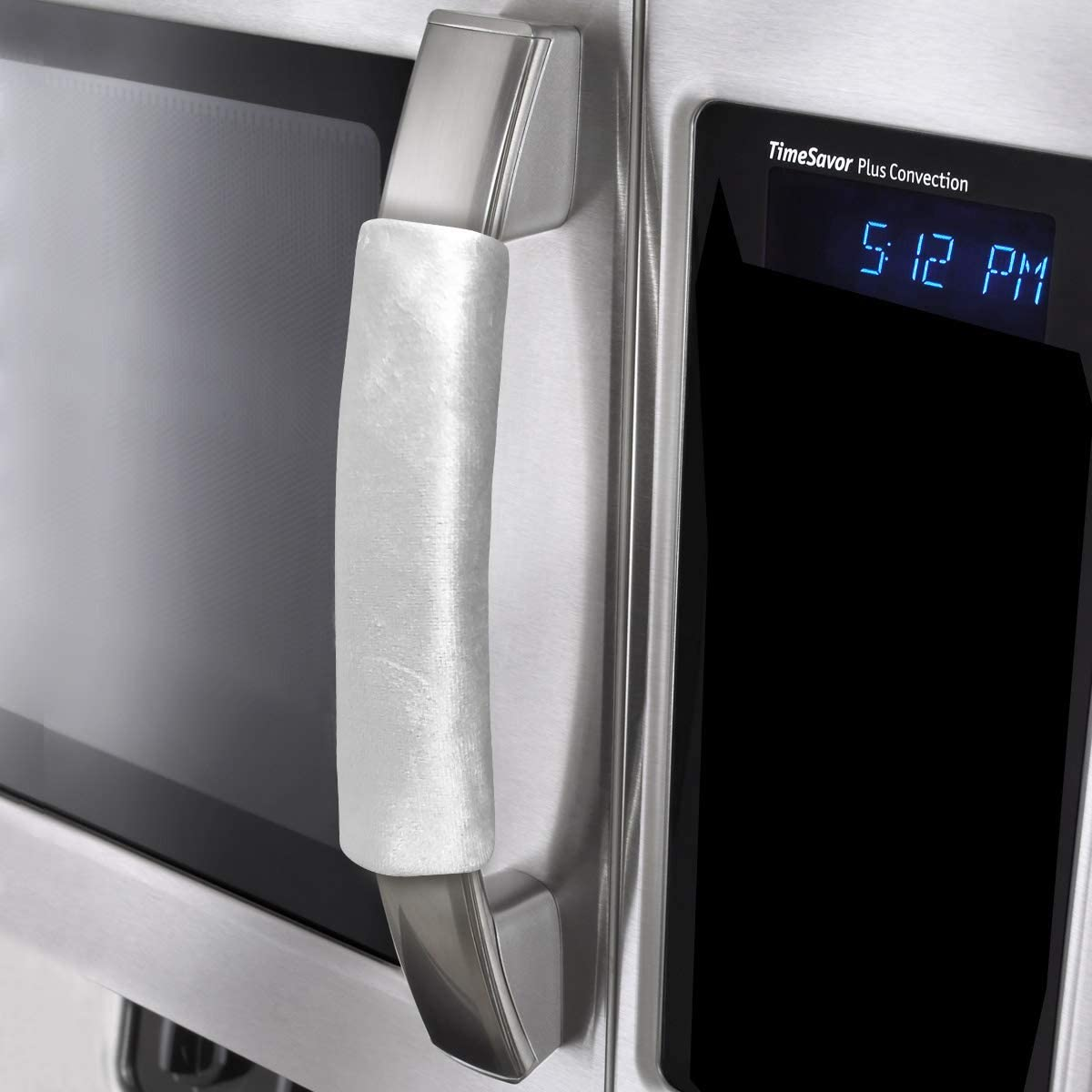 """OUGAR8 Microwave Door Handle Covers,Keep Your Kitchen Appliance Clean from Smudges, Fingertips,Drips&Food Stains,Perfect for Oven(6"""" L3.5W, Gray)"""
