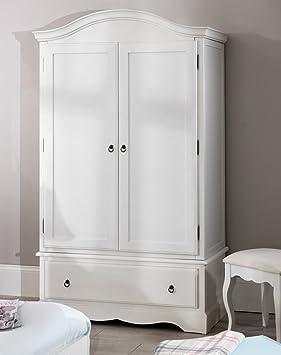 Romance Double Wardrobe Stunning French Antique White Wardrobe With