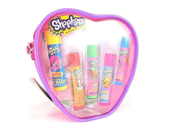 New Shopkins Lip Balm 5 pack gift Set makeup LIP stick lot, By Moose Badger - Lip Balm Stick Unscented - 0.15 oz. (pack of 12)