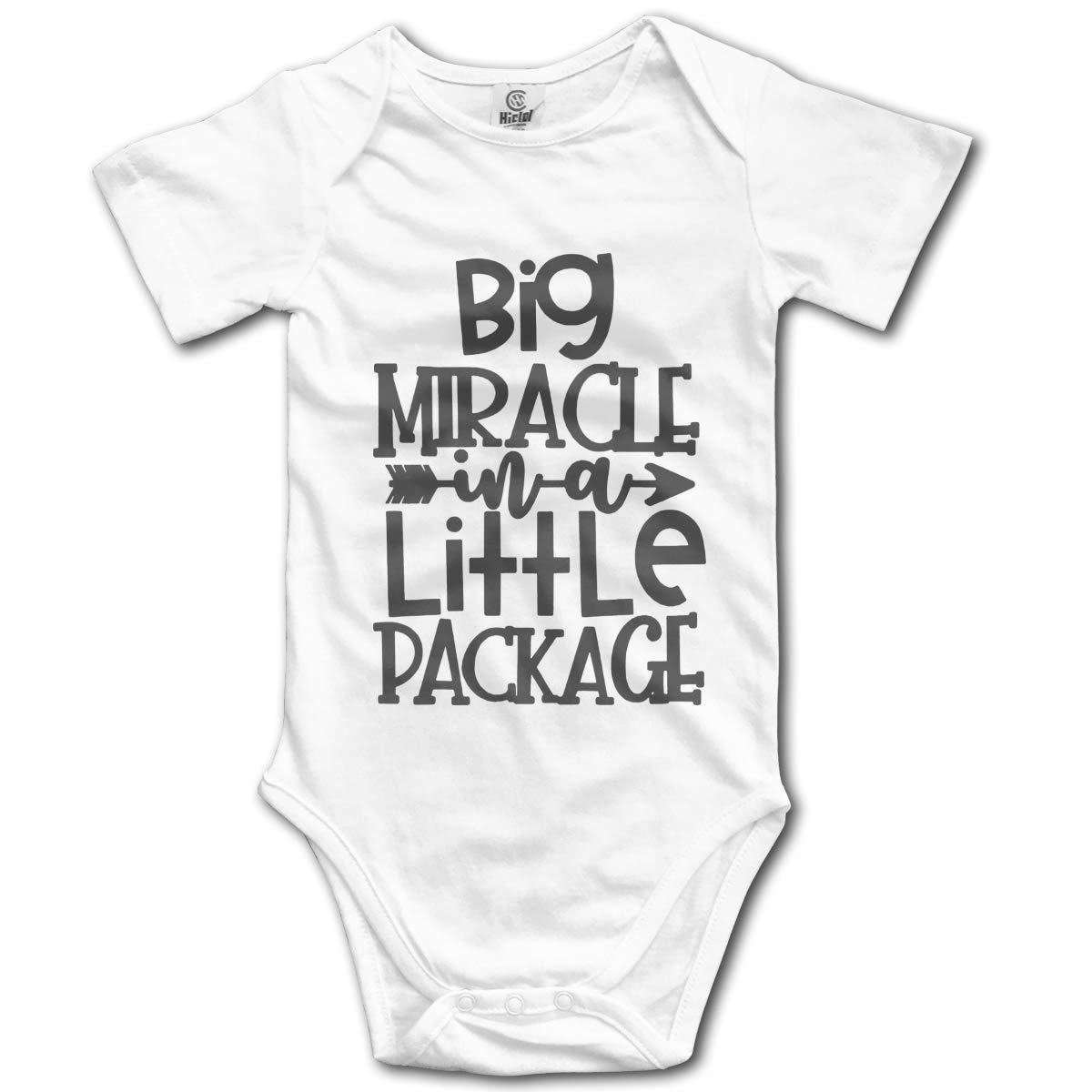 FAFU/&SKY Big Miracle Little Package Newbaby Baby Romper Summer Short Sleeve Jumpsuit