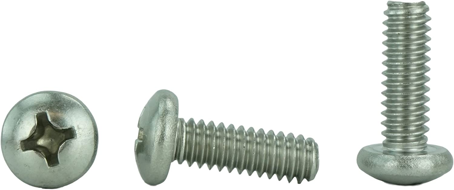 Full Thread 20 pcs Machine Screws Aspen Fasteners 1//4-20 X 2 AISI 304 Stainless Steel Pan Phillips Drive 18-8