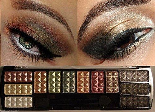 Maquillage professionnel cosmétiques fard à paupières 12 couleurs fard à paupières Palette Set n ° 2