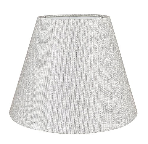 Urbanest Coolie Hardback Lampshade, 5-inch by 9-inch by 7-inch, Metallic Gray, Spider Washer Fitter
