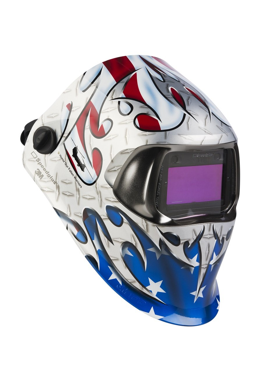 3M Speedglas Welding Helmet 100 Tribute with Auto-Darkening Filter 100V 07-0012-31TB, Welding Safety, Shades 8-12 by 3M Personal Protective Equipment (Image #1)