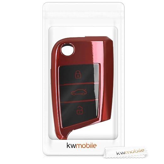 Amazon.com: Kwmobile - Carcasa para llave de coche para VW ...