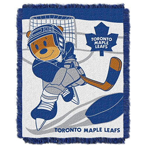 The Northwest Company Officially Licensed NHL Toronto Maple Leafs Score Woven Jacquard Baby Throw Blanket, 36
