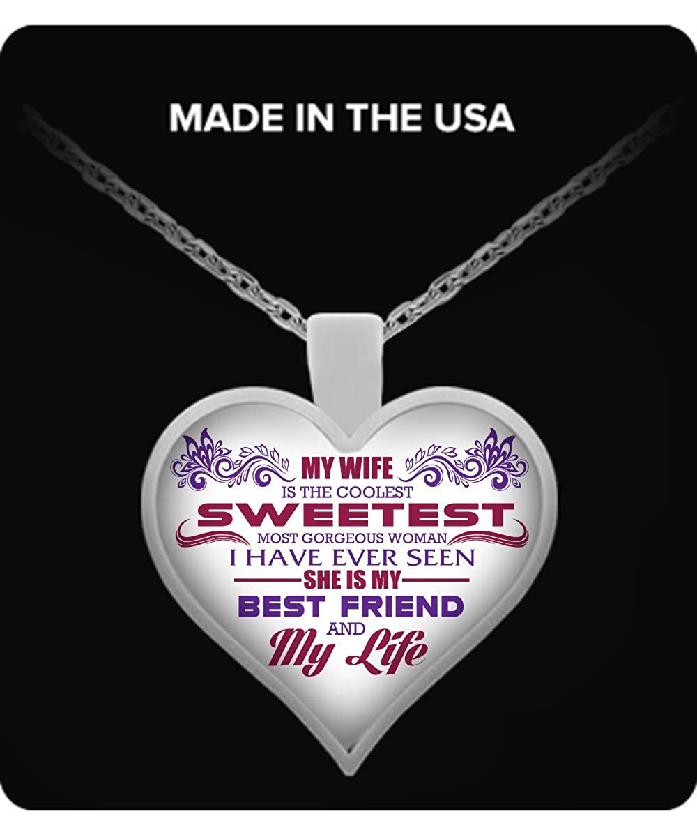 Heart pendant necklace Vuvuzi Tee I Love My Coolest Sweetest Wife