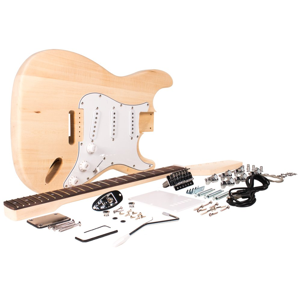 Seismic Audio - SADIYG-01 - Premium Strat Style DIY Electric Guitar Kit - Unfinished Luthier Project Kit Seismic Audio Speakers Inc.