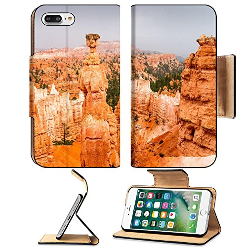 Luxlady Premium Apple iPhone 7 Plus Flip Pu Leather Wallet Case iPhone7 Plus 30722595 Vista of colorful sandstone pinnacles and spires in Bryce Canyon N P in Utah