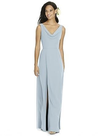 87430ad44f4c Amazon.com: SOCIAL BRIDESMAIDS Style 8180 Floor Length Chiffon Circle Skirt Formal  Dress - Sleeveless Cowl Neckline: Clothing