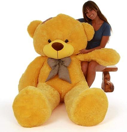 Buttercup Soft Toys Medium Very Soft Lovable/Huggable Teddy Bear for Girlfriend/Birthday Gift/Boy/Girl - 3 Feet (91 cm, Yellow)