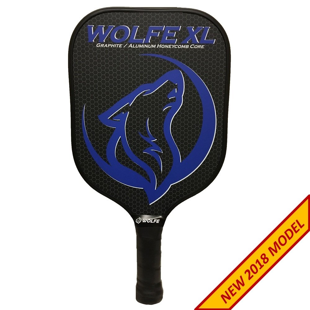 Wolfe XL Pickleball Paddle - Graphite Lightweight Racket and Honeycomb Composite Core with Ultra Cushion Padded Grip - USAPA Approved for Tournament Play ...