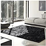 Superior Elegant Shag Rug, Plush and Cozy Hand Tufted Area Rugs, Chic and Contemporary Eyelash Shag Rug with Cotton Backing – 4' x 6' Rug, Black