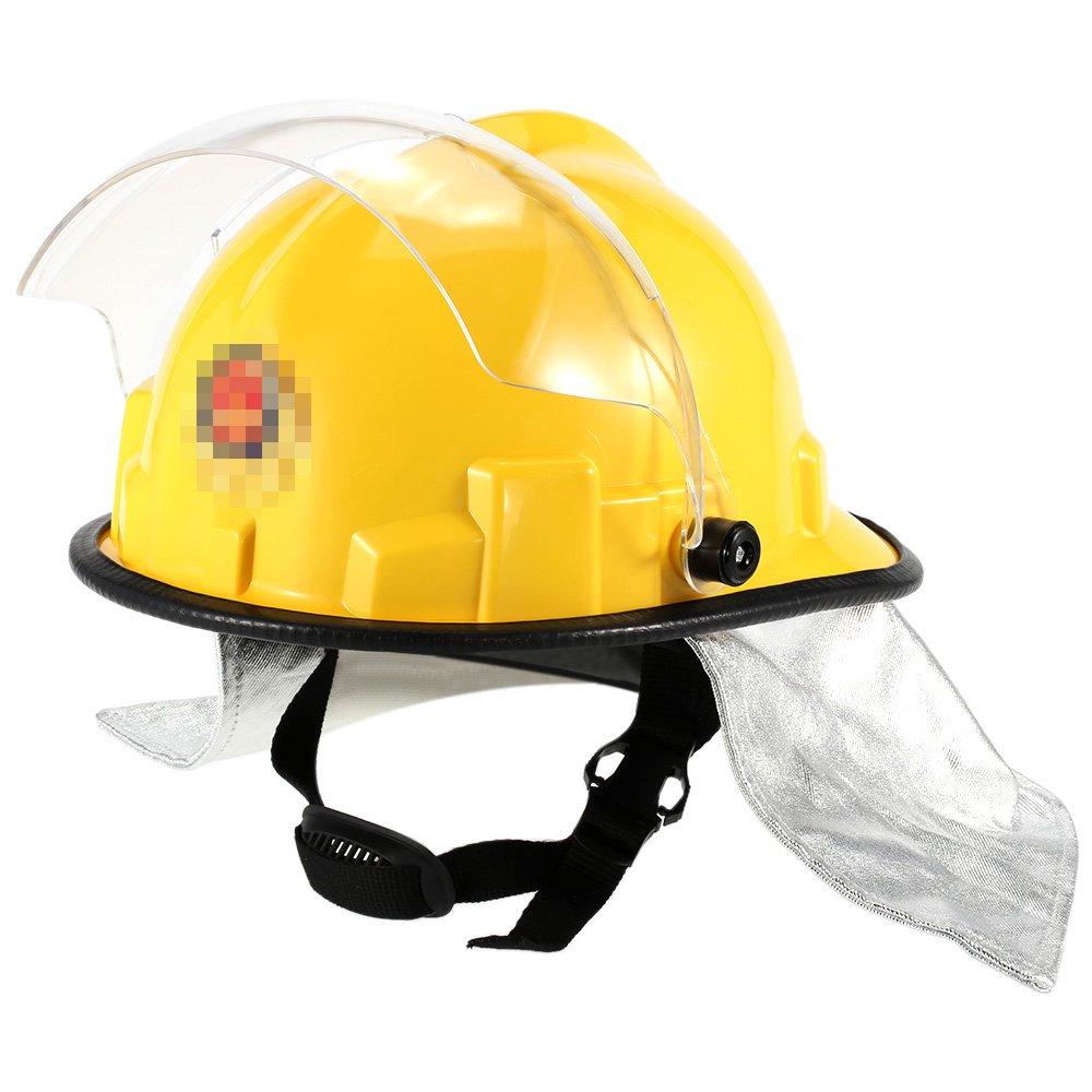 KKmoon Casco de seguridad para Frie; Fuego cabeza protección; Prueba bombero casco de seguridad con Amito descarga eléctrica Prevención ignífugo Pierce ...