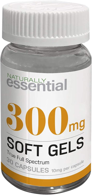 Naturally Essential Extracto de cáñamo (espectro completo verdadero de toda la planta) 30 cápsulas de gel suave – 10 mg por cápsula
