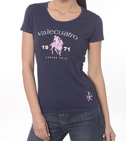 Valecuatro - Camiseta - para mujer azul XL: Amazon.es: Ropa