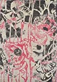 Super Area Rugs Pink Rug Modern/Contemporary Design 5′ 3″ X 7′ 7″ Soft Graffiti Carpet