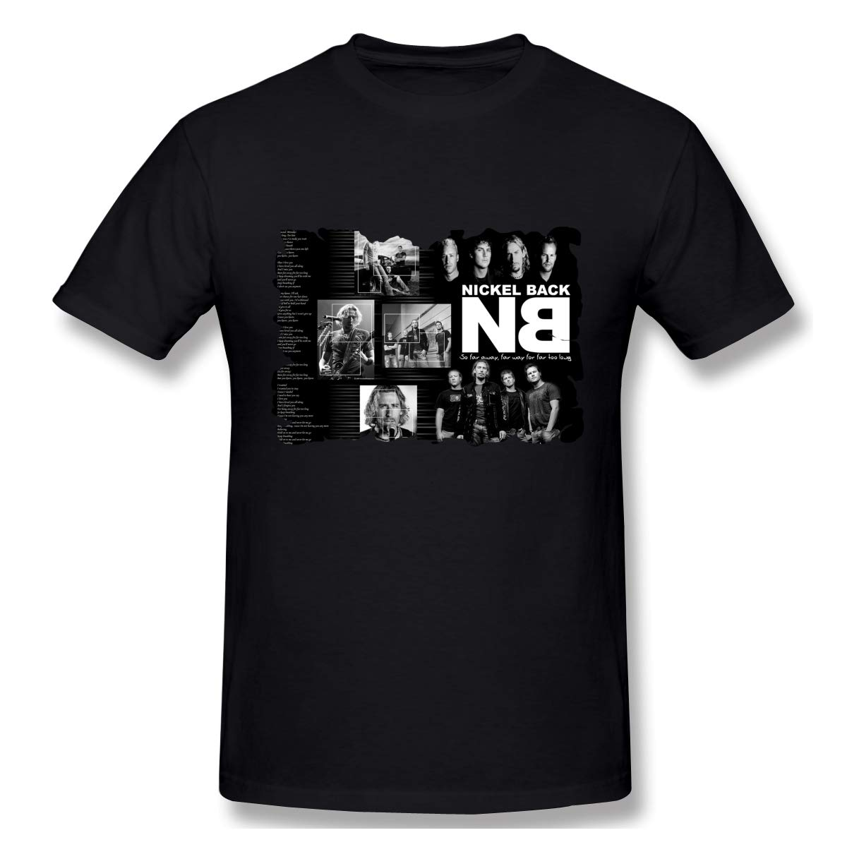 Print With Nickelback Sports Short Sleeve Shirt Black