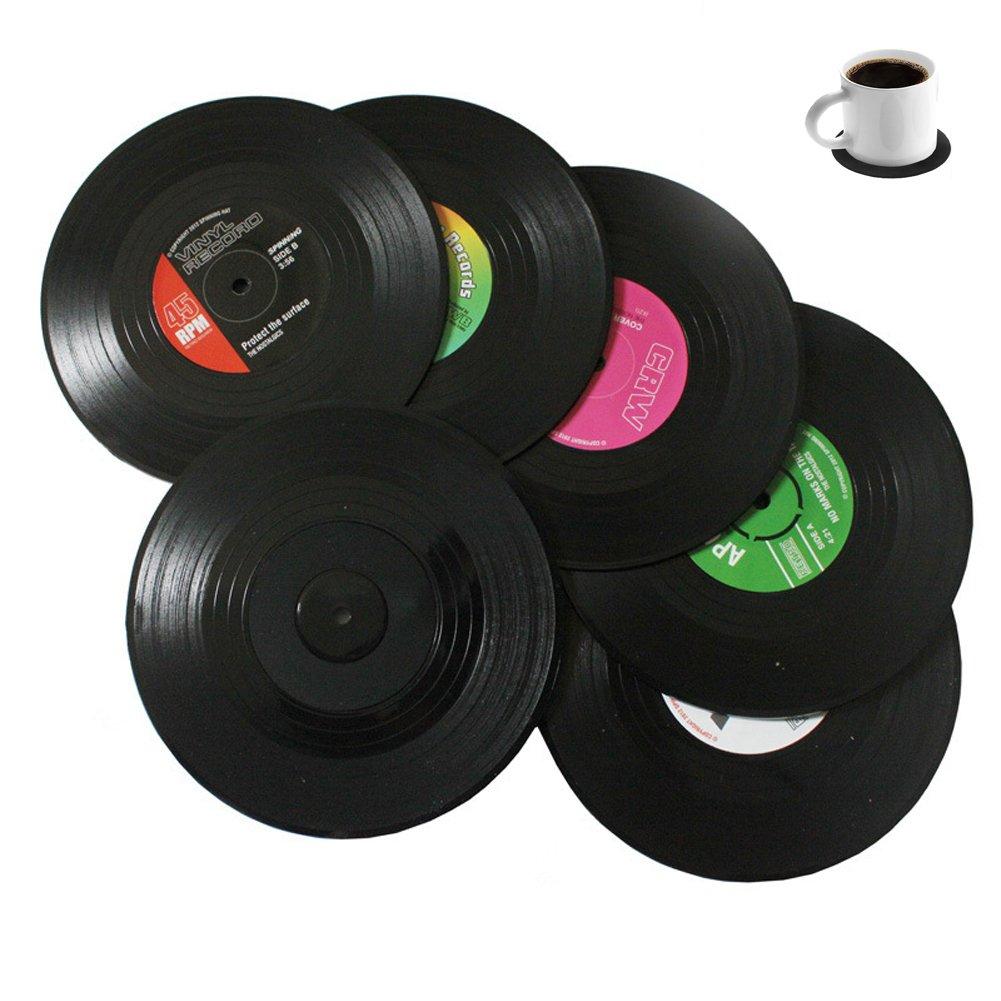 Bllatta Spinning Retro del Disco de Vinilo Bebidas Posavasos Mat 6pieces / Set product image