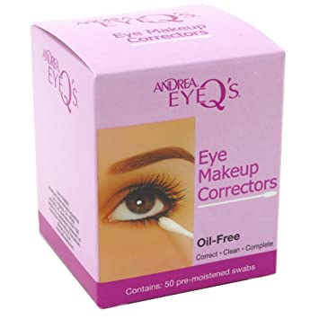 6 Pack - Andrea Eye Qs Oil-Free Make-Up Correctors 50 ea Morgan Miller 3-step Moisturizing, & Anti-Aging Beauty Skincare Kit (Aloe & Vitamins Facial Cleansing Wipes, 60ct Collagen COQ10 Sheet Masks, 5ct Collagen Facial Oil, 1.01 fl oz)
