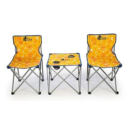 Silla &Mesa Plegables De Camping CRMM - Silla Al Aire Libre ...