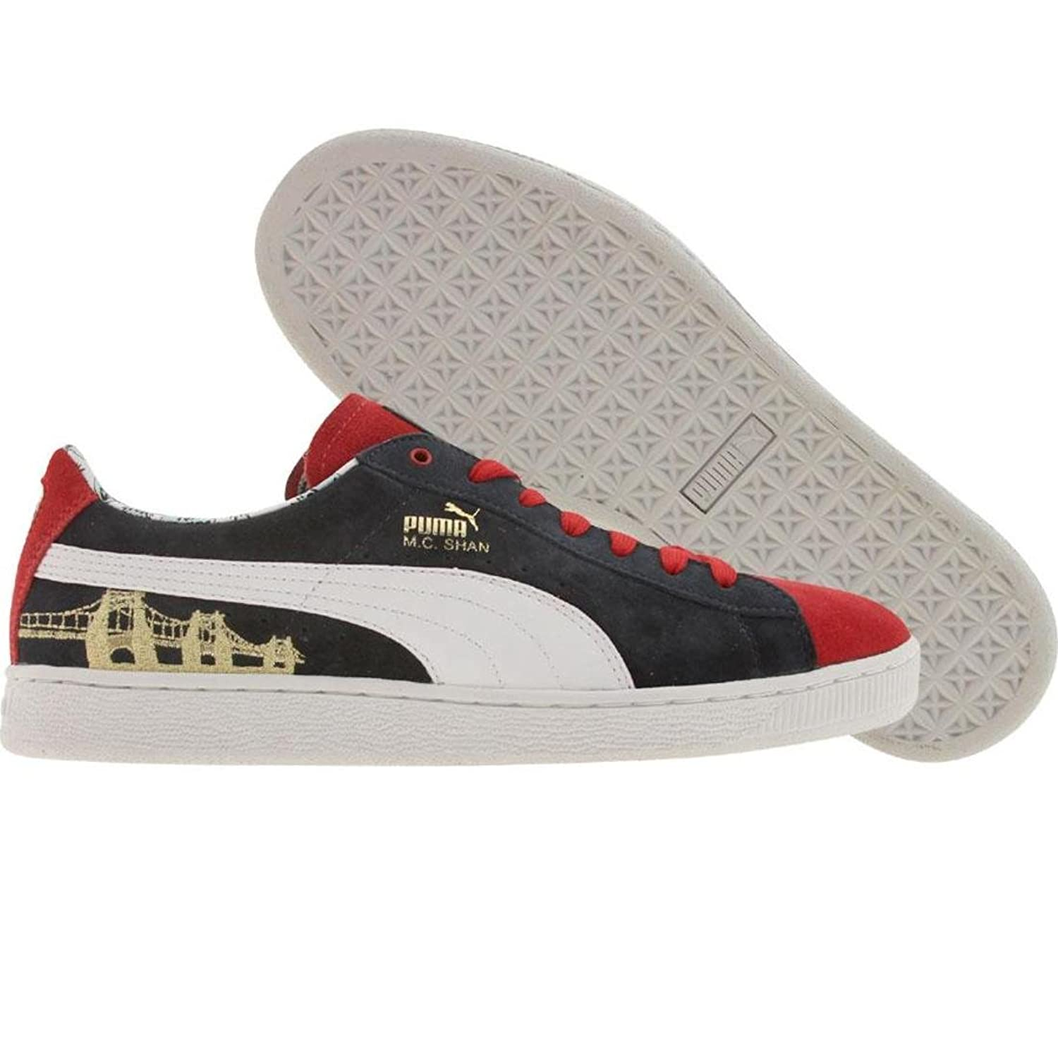 Amazon.com | Puma MC Shan Suede (ribbon red / new navy) | Fashion Sneakers