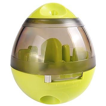 iHOY Comida para perros Ball,Juguete dispensador de comida para perros pelota de juguete recargable para perros y gatos de tamaño mediano y grande (verde): ...