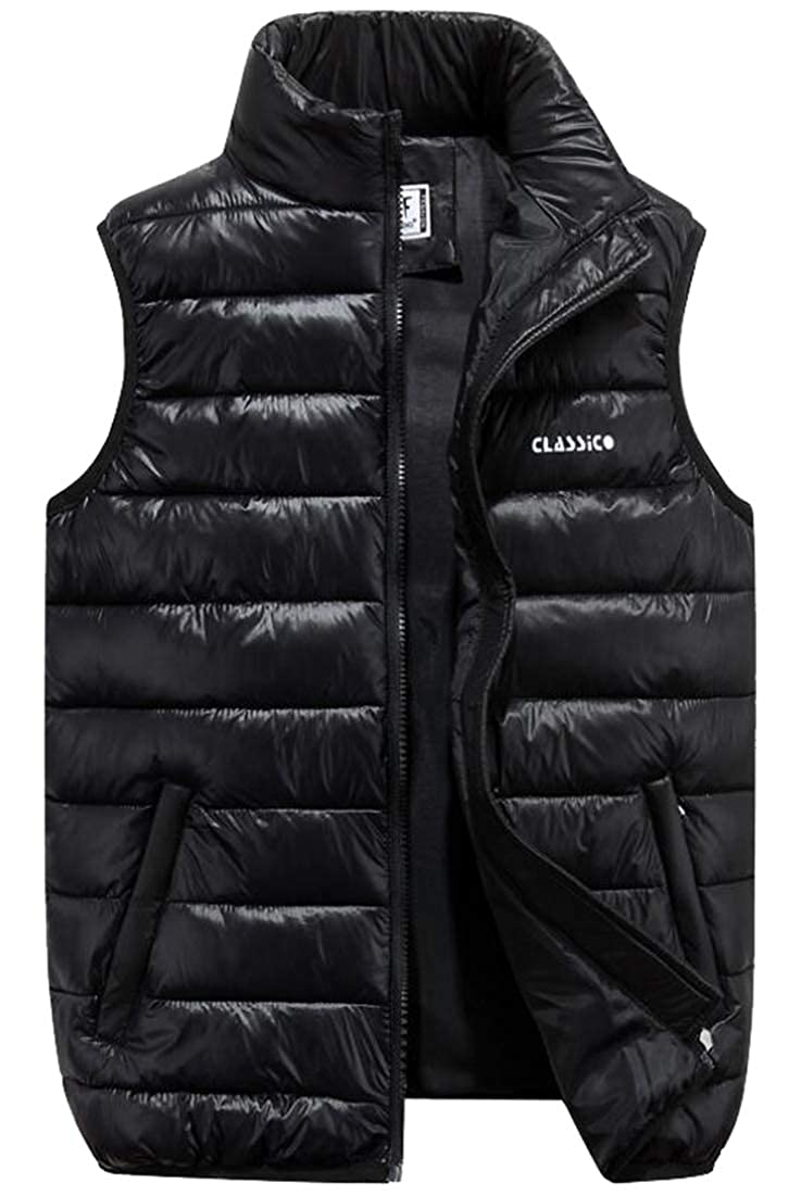 GAGA Mens Packable Travel Light Weight Insulated Down Puffer Vest with Pocket