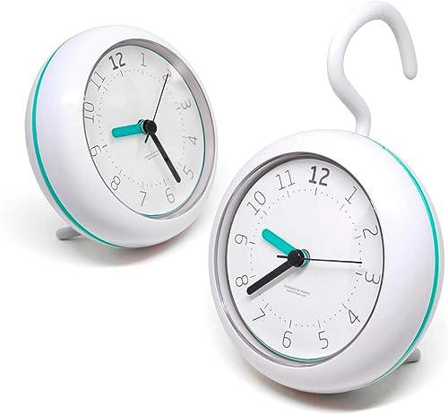 mooas Silent Waterproof Clock 3 Types, Bathroom Clock, Shower Clock Mint