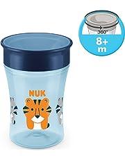 NUK Magic Cup Trinklernbecher, 360° Trinkrand, auslaufsicher abdichtende Silikonscheibe, 230ml, BPA-frei