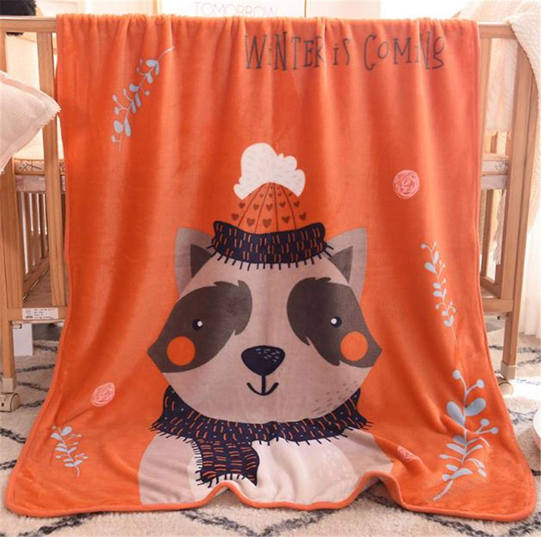 Bear Mvchif Blanket for Kids Baby Soft Flannel Warm Swaddling Throw Animal for Bed Crib Stroller Travel 39x55inches